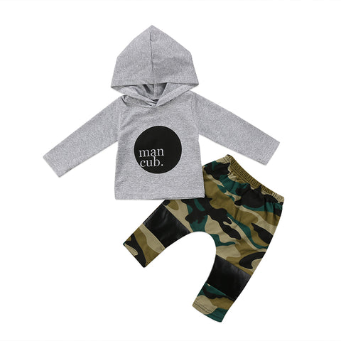Cub Hooded Top + Camo Pants
