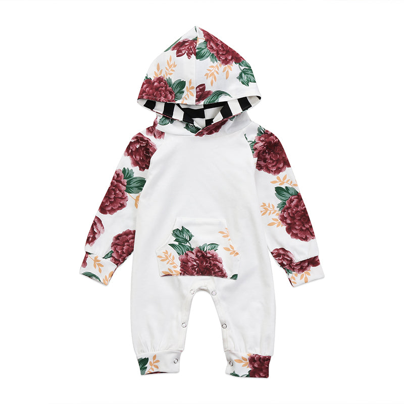 Floral Hooded Jumpsuit