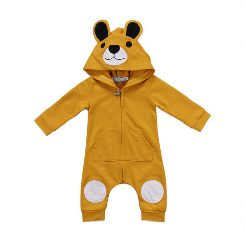 Bear Ear Hooded Jumpsuit