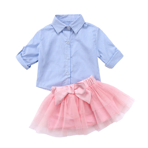 Marilyn Blue Striped Top + Tutu