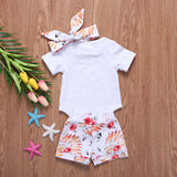 Floral Chieftain Bodysuit + Shorts 3pcs Set