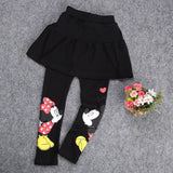 Girls Minnie Skirt Leggings