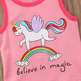 Unicorn Magic Top + Tassel Shorts