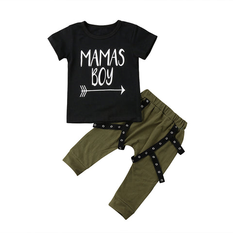 Mama's Boy Arrow Top + Green Pants