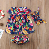 Fruits Mini Dress 3pcs Set