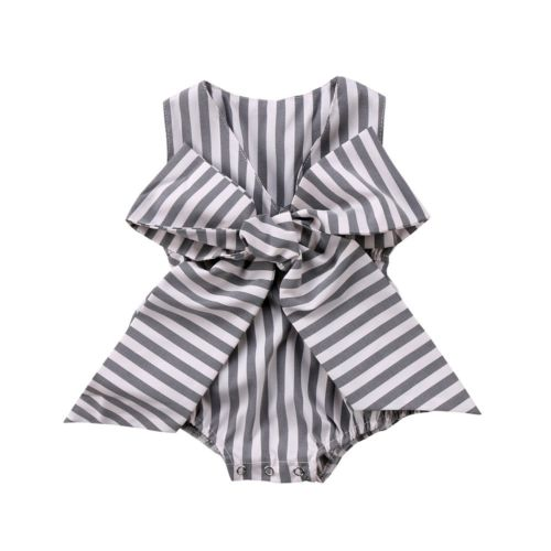 Bow Striped Romper