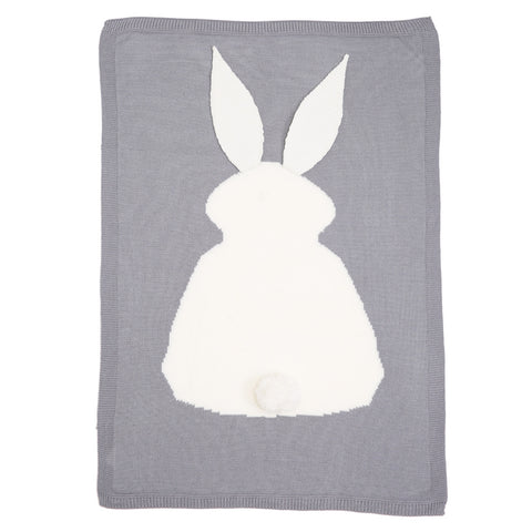 Knitted Bunny Swaddling Blanket