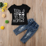 Too Hip To Hop Top + Distressed Jeans