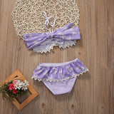Lilac Ruffled Bathing Suit