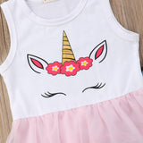 Unicorn Mini Dress + Rainbow Pants