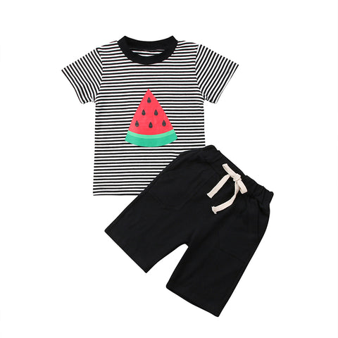 Watermelon Striped Top + Shorts