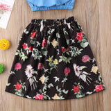 Phoebe Crop Top + Floral Skirt