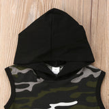 Camouflage Hooded Top + Pants