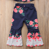 Floral Crop Top + Flared Pants