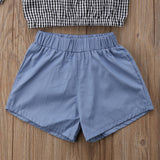 Plaid Flare Top + Shorts