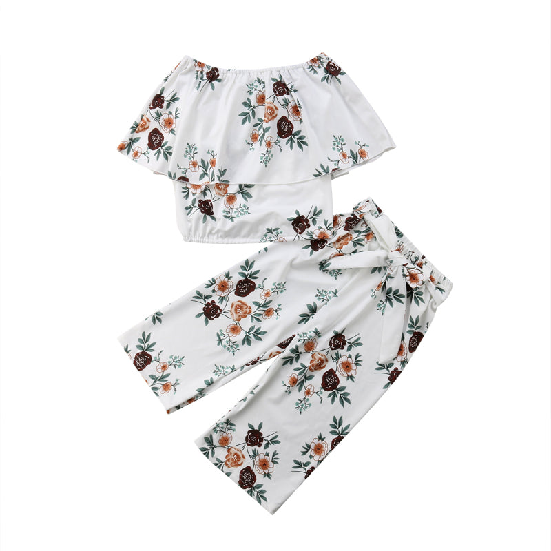 Floral Cape Tank Top + Pants