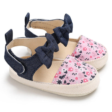 Floral Bow Prewalker Shoes