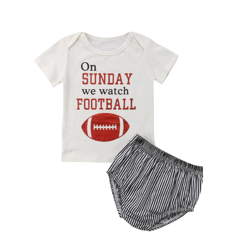 On Sunday We Watch Football Top + Shorts