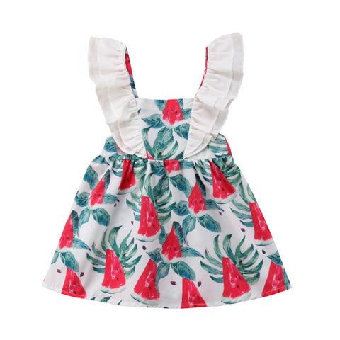 Ruffle Sleeve Watermelon Dress