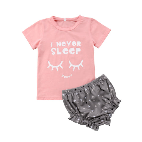 I Never Sleep Top + Shorts