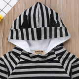 Stripe Hooded Top + Pants