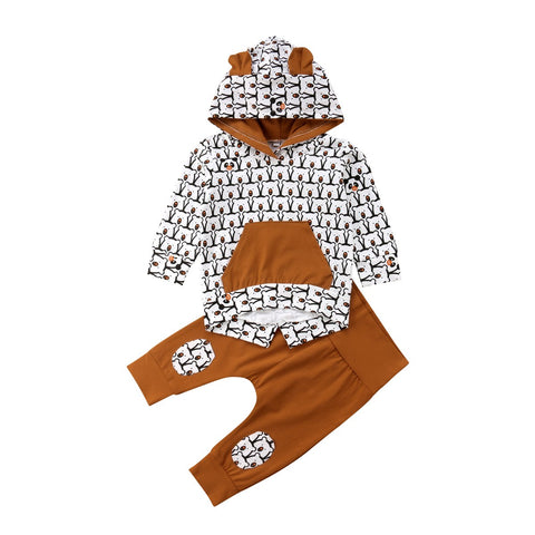 Bear Hooded Top + Pants