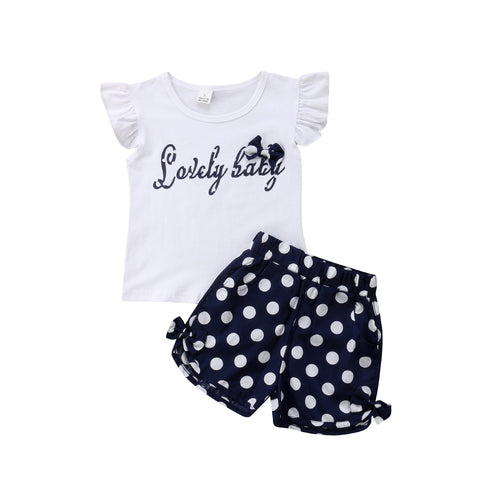 Lovely Baby Top + Polka Dot Shorts