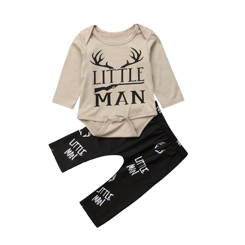 Little Man Bodysuit + Pants
