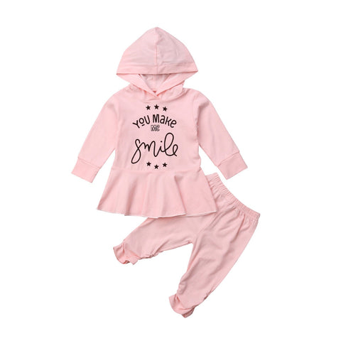 You Make Me Smile Hoodie + Pants Set