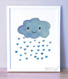 Watercolor Cloud Wall Print