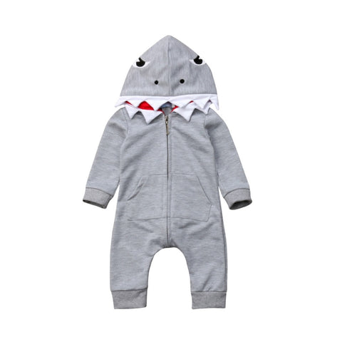 Shark Hooded Jumpsuit