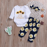 Live in the Sunshine Bodysuit + Floral Pants 3pcs Set