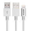 KUYiA Iphone 8Pin Cable Charging and Data transfer Sync Nylon Braided Apple Lightning Cable for iPhone 6/6S /6Plug/7/Plus 7 / 5/ 5S/ 5C/SE, iPad Pro Air, iPad Mini 2 3 4, iPod 1m/3.3ft