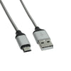 1M Micro USB Cable Syncwire Charger 2.4A High Speed Android Charger Cable Triple Braided Nylon Cover