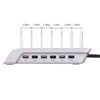 Kuyia 10.2A 6 Port USB Charging Station Universal Desktop Tablet & Smartphone Multi-Device Hub Charging Dock for iPhone, iPad, Galaxy, Tablets