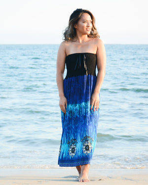 Strapless Beach Maxi Dress