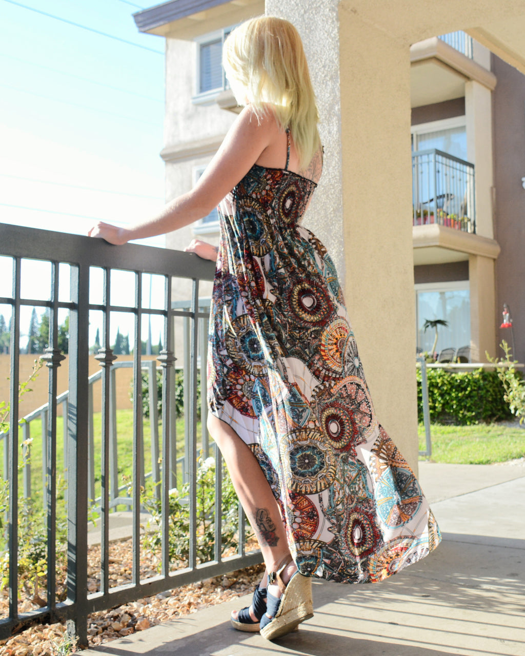 Indie Pattern Maxi Dress