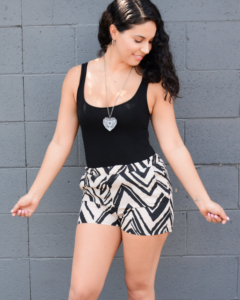 Zebra Pattern Shorts