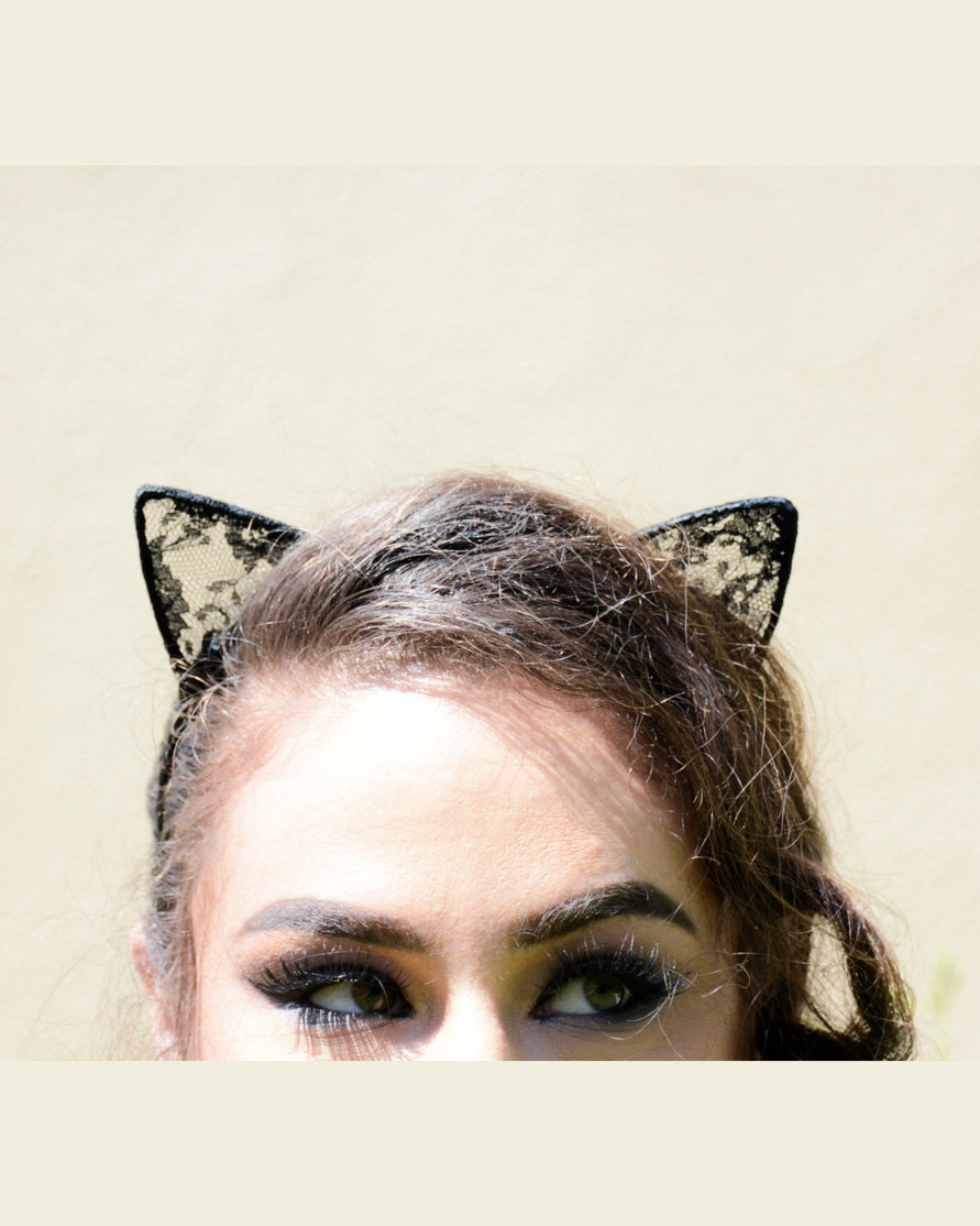 Lace Cat Ear Head Band