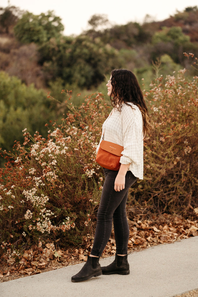 Rust Red Suede Mini Crossbody Bag | Thread & Canvas Co.