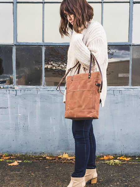 Brown Foldover Crossbody Bag | Thread & Canvas Co.