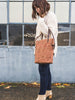 Thread & Canvas Co. | Waxed Canvas Foldover Crossbody Bag in Earth Brown | Styled Shot