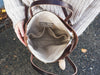 Thread & Canvas Co. | Waxed Canvas Foldover Crossbody Bag in Earth Brown | Styled Shot 5