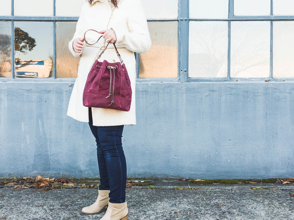 Bucket Shoulder Bag | Merlot Purple