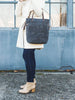 Grey Foldover Crossbody Bag | Thread & Canvas Co.
