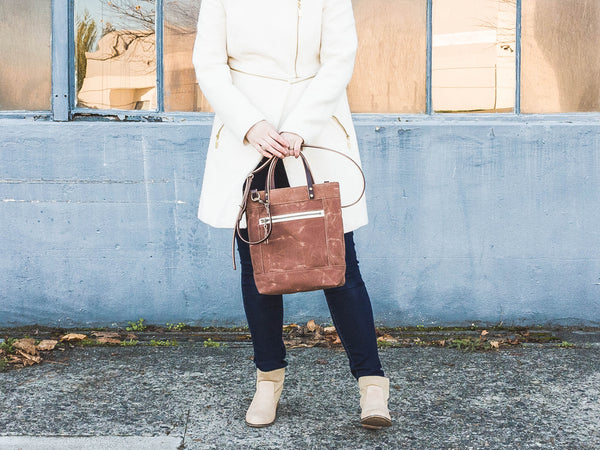 Brown Waxed Canvas Crossbody Bag | Thread & Canvas Co.