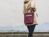Thread & Canvas Co. | Waxed Canvas Crossbody Bag in Merlot Purple | Styled Shot 2