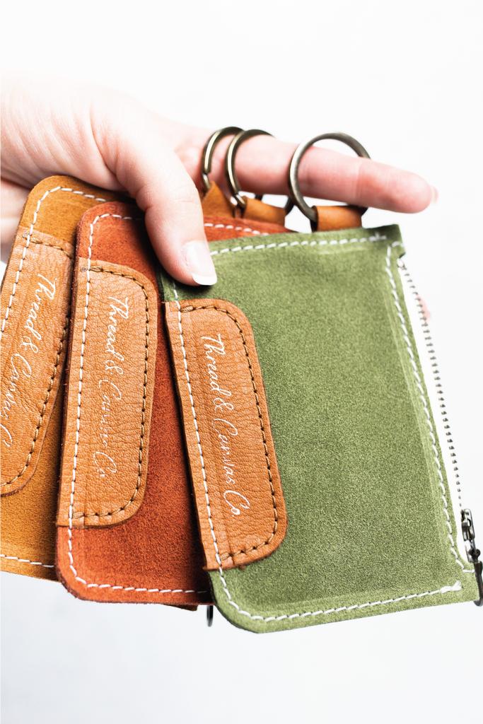 Suede and Leather Coin Pouches | Thread & Canvas Co.