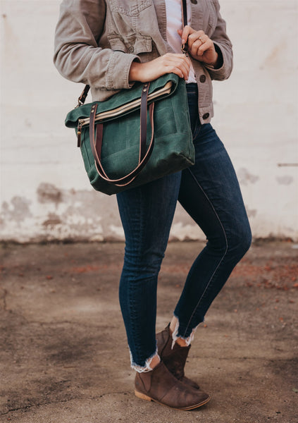 Green Foldover Crossbody Bag | Thread & Canvas Co.
