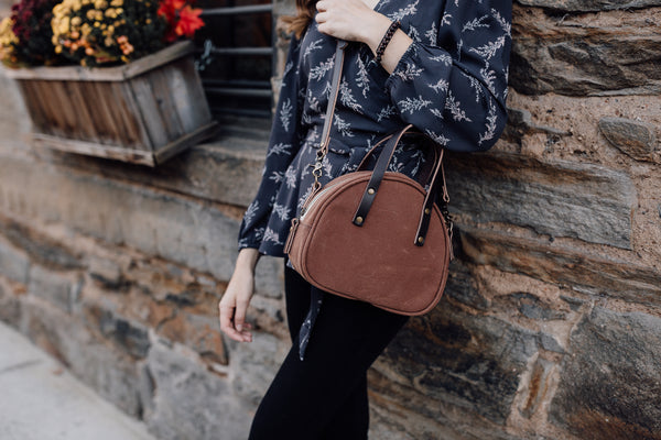 Brown Half Circle Crossbody Bag | Thread & Canvas Co.